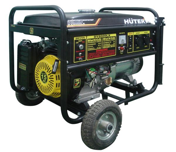 Бензиновый генератор huter dy4000lx электростартер huter