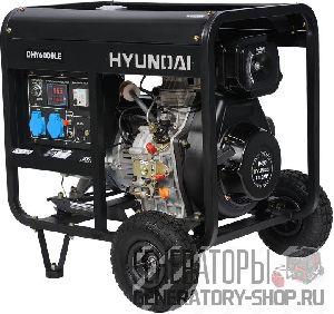 [5 кВт] Hyundai DHY 6000LE дизельный генератор с колесами