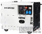 [5 кВт] Hyundai DHY 6000SE дизельный генератор в кожухе с колесами