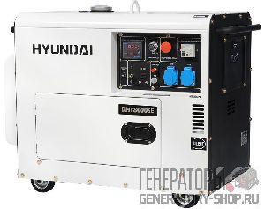 [6 кВт] Hyundai DHY 8000SE дизельный генератор на колесах в кожухе