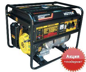 Электрогенератор бензин/газ Huter - 4 кВт DY5000L
