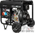 [5 кВт] Hyundai DHY 6000LE-3 дизельный генератор на колесах трехфазный