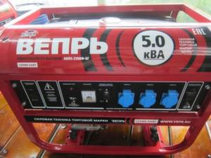 Бензиновый генератор Вепрь АБП5-230ВФ-БСГК 5 кВА
