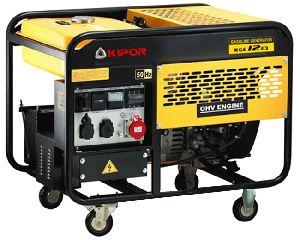 Бензиновый генератор 10,5 кВт KIPOR KGE12Е3