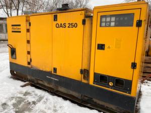 Дизельный генератор Atlas Copco QAS 250, Наработка 19 тыс м/с