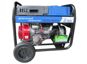 Трехфазный дизельный генератор TSS SDG 7000EH3 6,5 кВт