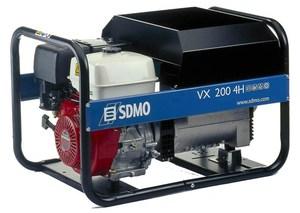 [4 кВт] Сварочный электрогенератор SDMO VX200/4HC