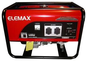 [4,7кВт] Бензиновый генератор Elemax SH 5300 EX-R